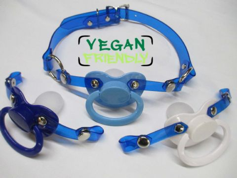 Cute Blues, Vegan Friendly Large Shield Pacifier Changeable Front Pacigag